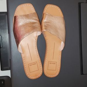 Dolce Vita Rose Gold Slides
